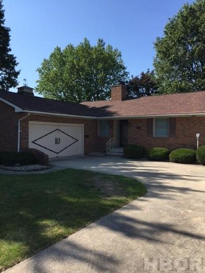Upper Sandusky OH Single Family Home For Sale: $180,000