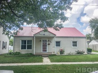 Findlay OH Single Family Home For Sale: $88,900