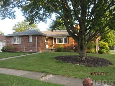 Findlay OH Single Family Home For Sale: $135,900