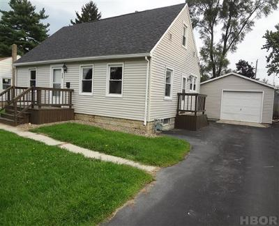 Findlay OH Single Family Home For Sale: $121,900