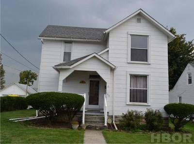 Findlay OH Single Family Home For Sale: $67,900