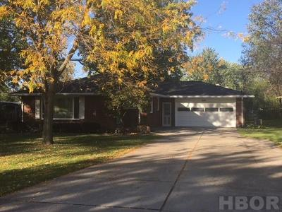 Findlay OH Single Family Home For Sale: $139,500