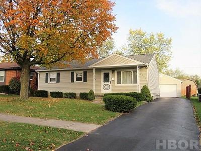 Findlay OH Single Family Home For Sale: $124,900
