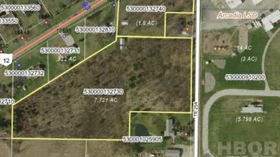 Arcadia OH Residential Lots & Land For Sale: $150,000