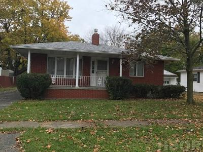 Findlay OH Single Family Home For Sale: $124,975