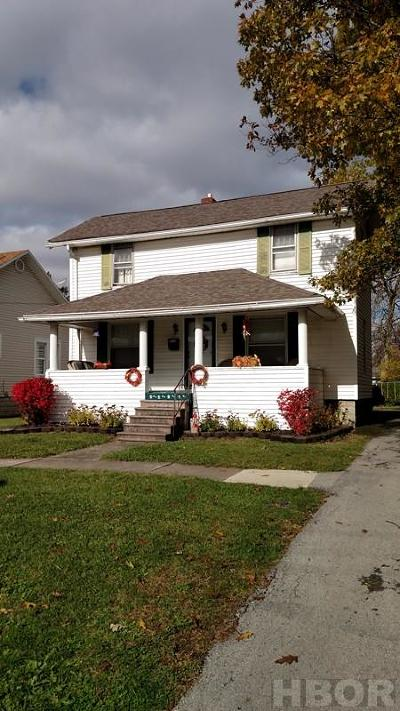 Findlay OH Single Family Home For Sale: $108,000
