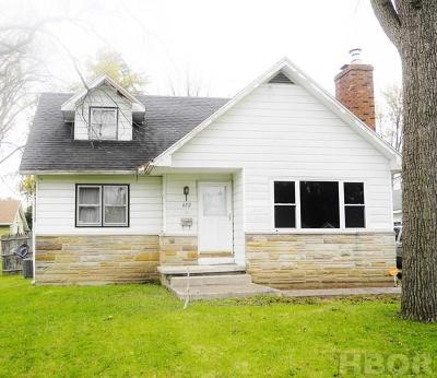 Findlay OH Single Family Home For Sale: $75,000