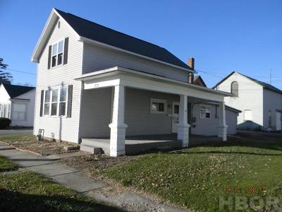 Findlay OH Single Family Home For Sale: $62,900