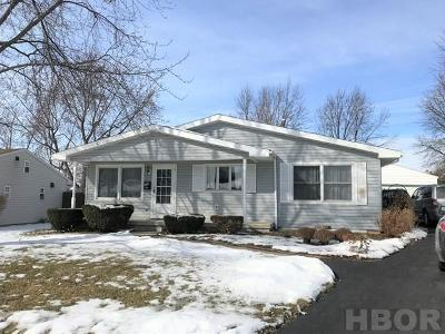 Findlay OH Single Family Home For Sale: $144,975