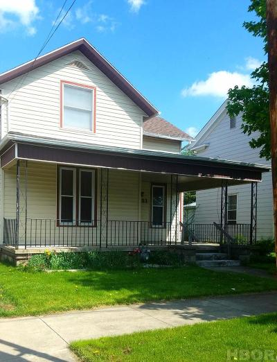 Findlay OH Single Family Home For Sale: $65,000