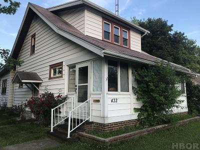Fostoria Single Family Home For Sale: 432 N Town St