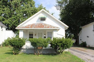 Findlay OH Single Family Home For Sale: $69,900