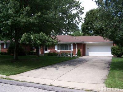 Findlay OH Single Family Home For Sale: $141,000