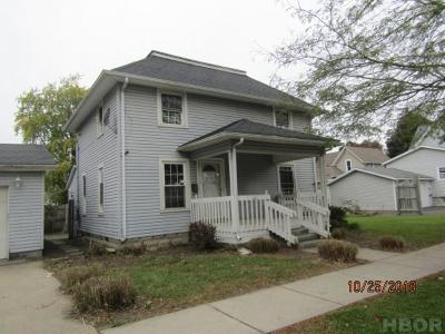 Findlay OH Single Family Home For Sale: $39,000