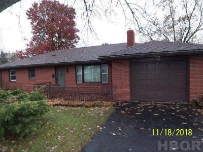 Findlay OH Single Family Home For Sale: $105,000