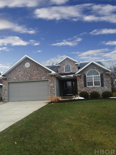 Findlay Single Family Home For Sale: 1448 Plum Creek Dr.