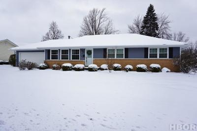 Findlay OH Single Family Home For Sale: $157,900