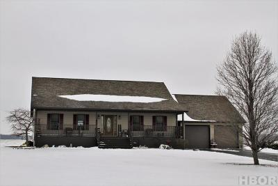 Findlay Single Family Home For Sale: 12185 Township Rd 37