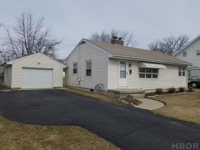 Findlay OH Single Family Home For Sale: $117,500