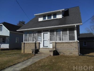 Findlay OH Single Family Home For Sale: $114,900