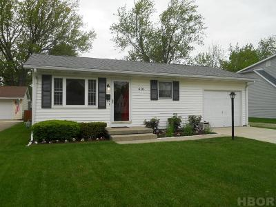 Findlay OH Single Family Home For Sale: $118,000