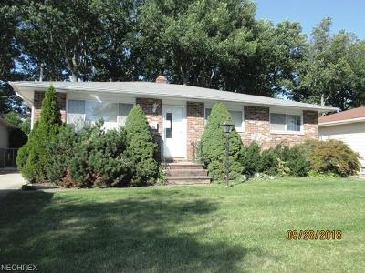 Maple Heights Single Family Home For Sale: 14065 Janice Dr