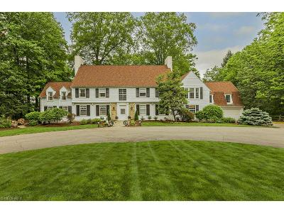 Gates Mills Single Family Home For Sale: 1219 West Hill Dr