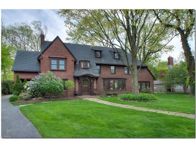 Shaker Heights Single Family Home For Sale: 2879 Fontenay Rd