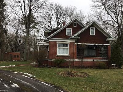Hubbard Single Family Home For Sale: 190 Youngstown Hubbard Rd