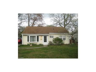 Mentor OH Single Family Home For Sale: $78,000