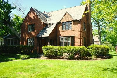 Shaker Heights Single Family Home For Sale: 3256 Daleford Rd
