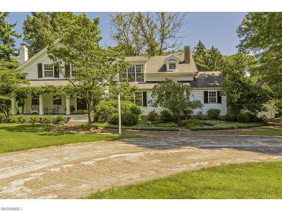 Gates Mills Single Family Home For Sale: 1249 Chagrin River Rd