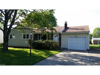 Youngstown Single Family Home For Sale: 834 Edenridge Dr