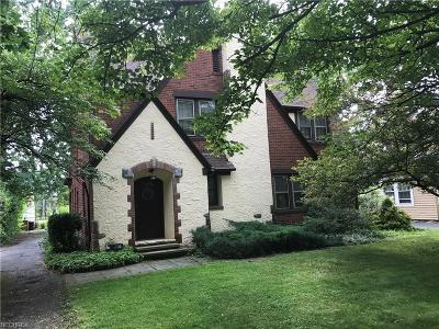 Shaker Heights Single Family Home For Sale: 3270 Chadbourne Rd