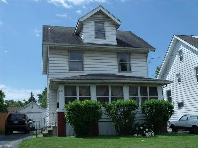 Girard OH Single Family Home For Sale: $59,900