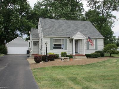 Canfield Single Family Home For Sale: 4970 Tippecanoe Rd