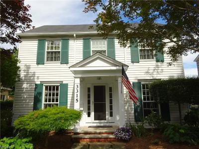 Shaker Heights Single Family Home For Sale: 3315 Elsmere Rd