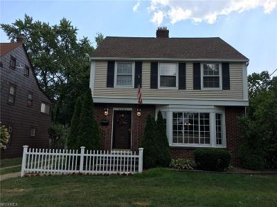 Rocky River Single Family Home For Sale: 2893 Lakeview Ave