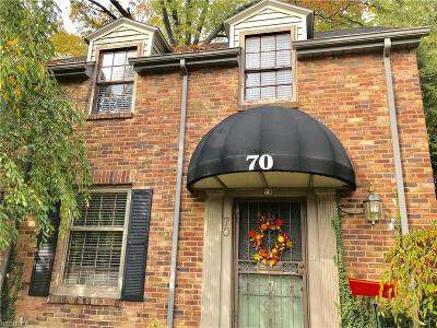 Youngstown Single Family Home For Sale: 70 Overhill Rd