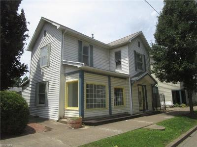 Dresden OH Single Family Home For Sale: $105,900