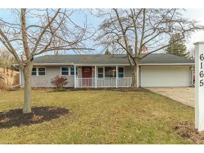 Mentor Single Family Home For Sale: 6165 Cedarwood Rd