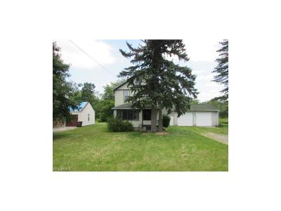 Poland Single Family Home For Sale: 8545 Youngstown Pittsburgh Rd