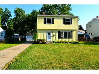 Painesville OH Single Family Home For Sale: $107,414