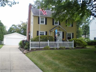 Mayfield Village Single Family Home For Sale: 6682 Seneca Rd