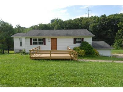 Single Family Home For Sale: 10020 Frazeysburg Rd