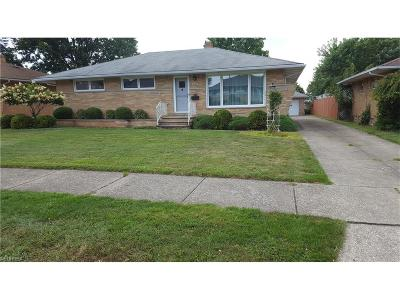 Cleveland Single Family Home For Sale: 7256 Chateau Dr