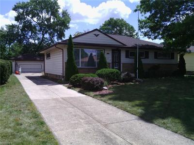 Cleveland Single Family Home For Sale: 7291 Chateau Dr