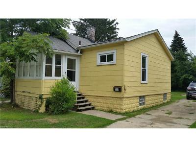 Painesville OH Single Family Home For Sale: $64,500