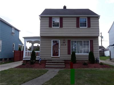 Parma Single Family Home For Sale: 4519 Albertly Ave
