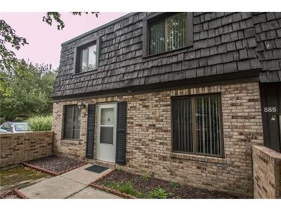 Broadview Heights Condo/Townhouse For Sale: 585 Tollis Pky #585